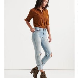 NWT Lucky Brand Lucky Pins High Cuff Jeans